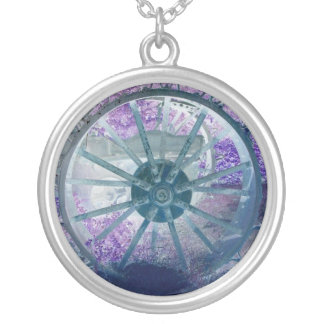 Wheel of Fortune Round Pendant Necklace