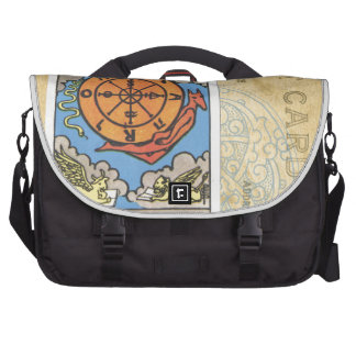 Wheel Of Fortune Postcard Tarot Card Vintage Commuter Bags