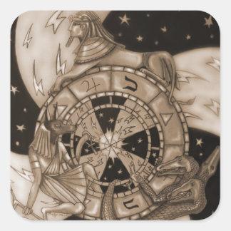 Wheel of Fortune Square Sticker