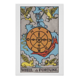 Wheel of Fortune Tarot Card Poster