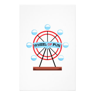 Wheel Of Fun Stationery Design