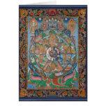 Wheel of Life Mandala Greeting Card