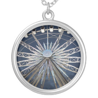 Wheel of Malmö Round Pendant Necklace