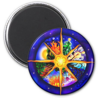 Wheel of the Year 2 Inch Round Magnet