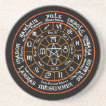 """Wheel Of The Year Drinking Coasters<br><div class=""""desc"""">Wheel Of The Year Drinking Coasters.. Fabulous Pagan Design... </div>"""