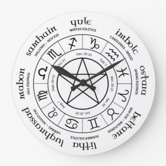 Wheel of the Year - Northern Hemisphere Wall Clocks