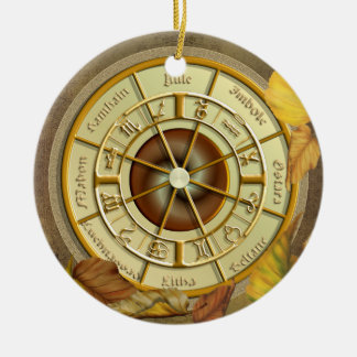 Wheel of the Year Round Ornament