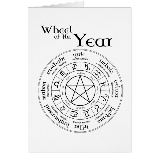 Wheel of the Year - Southern Hemisphere Card