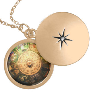 WHEEL OF THE YEAR WICCA CHARM LOCKET NECKLACE