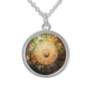 WHEEL OF THE YEAR WICCA CHARM NECKLACE