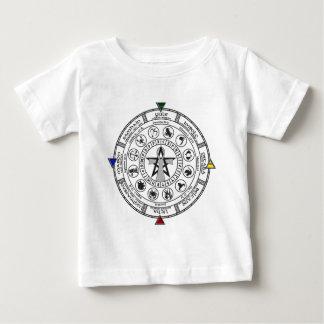 Wheel of the Year Zodiac Sabbats Runes Baby T-Shirt