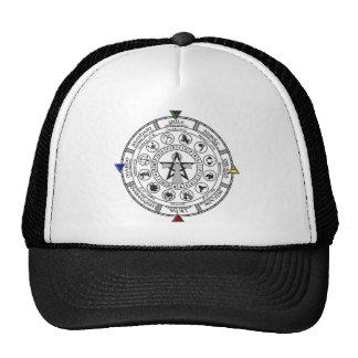 Wheel of the Year Zodiac Sabbats Runes Trucker Hat