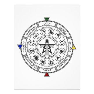 Wheel of the Year Zodiac Sabbats Runes Letterhead