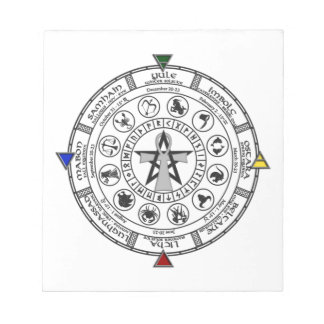 Wheel of the Year Zodiac Sabbats Runes Note Pad