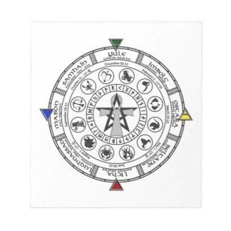 Wheel of the Year Zodiac Sabbats Runes Notepad