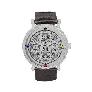Wheel of the Year Zodiac Sabbats Runes Wrist Watch