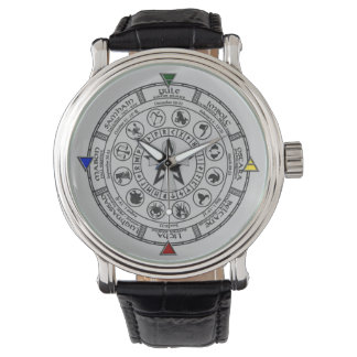 Wheel of the Year Zodiac Sabbats Runes Watch