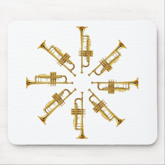 Wheel of Trumpets Mouse Pad