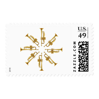 Wheel of Trumpets Postage