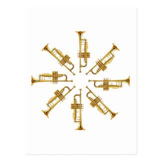Wheel of Trumpets Postcard