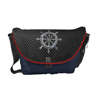 Wheel on Carbon Fiber style Courier Bag