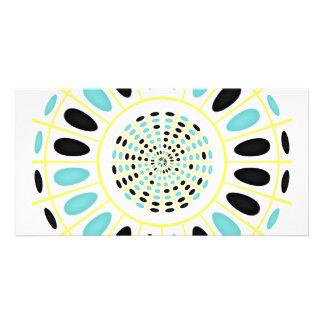 Wheel on white card