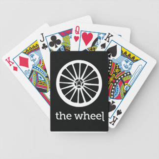 Wheel Playing Cards Black Background