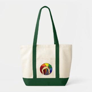 Wheel Pose Multi Color Tote Tote Bags