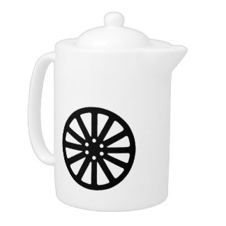 Wheel rim teapot