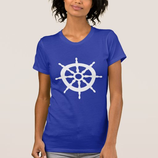 Wheel Tee de capitán Ship's náutico Camiseta