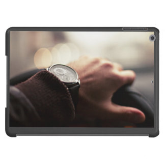 Wheel Themed, A Man Wearning A Watch And Jacket Ho iPad Air Cover