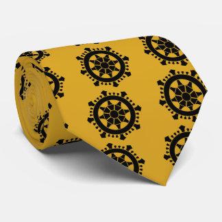 Wheel treasure _crest model neck tie