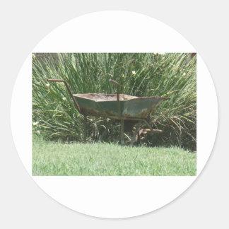 Wheelbarrow Classic Round Sticker