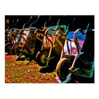 Wheelbarrows Postcard