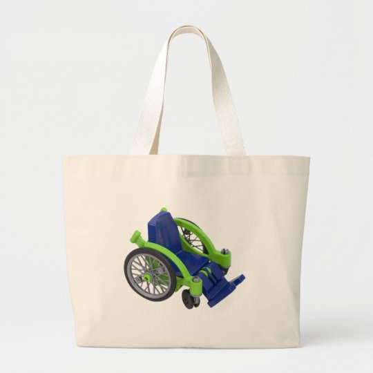 Wheelchair013110 Large Tote Bag