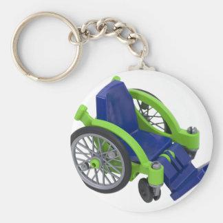 Wheelchair013110 Llavero Redondo Tipo Pin