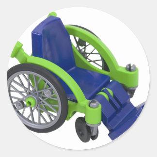 Wheelchair013110 Round Sticker