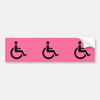 Wheelchair Access - Handicap Chair Symbol Bumper Sticker