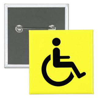 Wheelchair Access - Handicap Chair Symbol Pinback Buttons