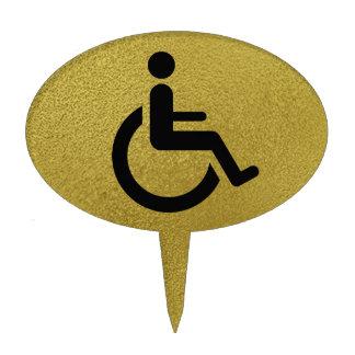Wheelchair Access - Handicap Chair Symbol Cake Topper