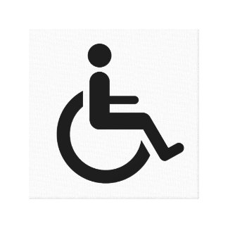 Wheelchair Access - Handicap Chair Symbol Canvas Prints
