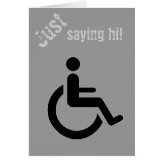 Wheelchair Access - Handicap Chair Symbol Card