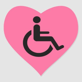 Wheelchair Access - Handicap Chair Symbol Heart Sticker