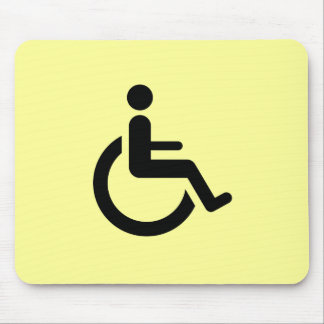 Wheelchair Access - Handicap Chair Symbol Mouse Pad