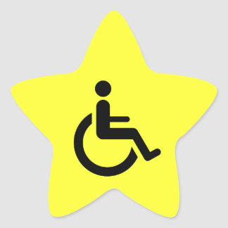 Wheelchair Access - Handicap Chair Symbol Star Sticker