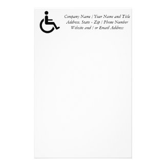 Wheelchair Access - Handicap Chair Symbol Stationery