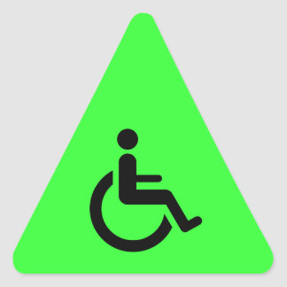 Wheelchair Access - Handicap Chair Symbol Triangle Sticker