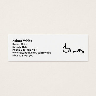 Wheelchair accident mini business card