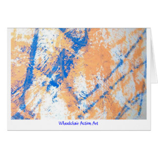 Wheelchair Action Art Large Notecards Card