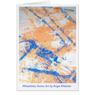 Wheelchair Action Art Notecards Card